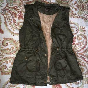 Jackets & Blazers - Faux Fur Lined Vest